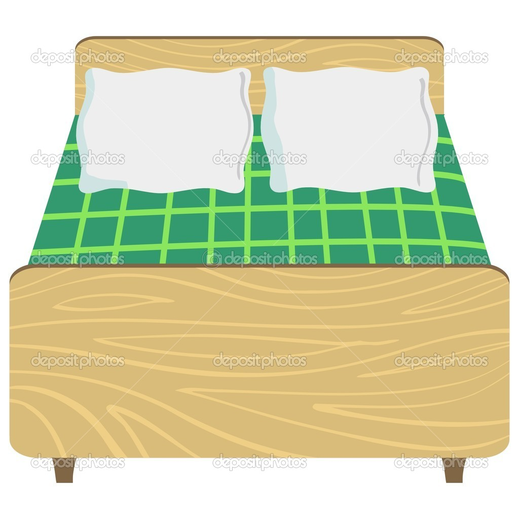 Illustration of bed — Stock Vector © Perysty #5398296