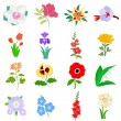 Set of flowers — Stock Vector #5462880