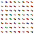 Royalty-Free Stock Vector Image: Labels in national colors