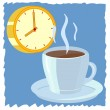 Stock Vector: Time to drink coffee