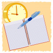 Time to educate — Stock Vector