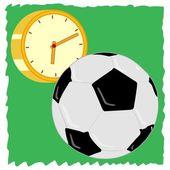 čas hrát fotbal — Stock vektor
