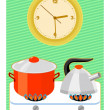 Time to cooking — Stock Vector #5725793