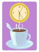 Time for coffee — Vector de stock