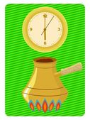 Time to make coffee — Stock Vector