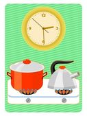 Time to cooking — Stock Vector