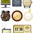 Collection of vector illustrations clock - Vektorgrafik