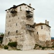 Sentry serf tower on coast, Ouranoupoli - Stock Photo