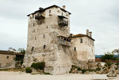 Sentry serf tower on coast, Ouranoupoli — Stock Photo