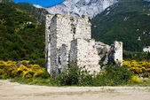 Sentry serf tower on coast, Athos — Stockfoto