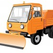 Street sweeper — Stock Vector