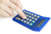 Hand with calculator — Stock Photo