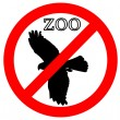 Raptor in zoo prohibited — Stock Photo