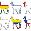 Guanaco flags — Stock Photo #5433001