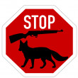 Stop shoot  fox — Stock Photo