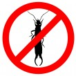 Earwig prohibited — Stock Photo