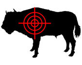 Bison crosshair — Stock Photo