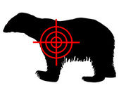Polar bear crosshair — Stock Photo