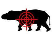 Hippo crosshair — Stock Photo