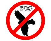 禁止されている動物園のラプター — ストック写真