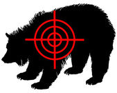 Grizzly bear crosshair — Stock Photo