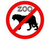 Jaguar in zoo prohibited — Stock Photo