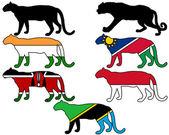 豹子标志 — 图库照片
