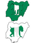 Mandrill Nigeria — Stock Photo
