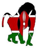 Baboon Kenya — Stock Photo