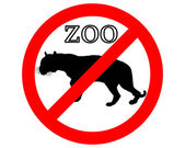 Tiger hayvanat bahçesi yasak — Stok fotoğraf