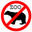 Polar bear in zoo prohibited — ストック写真