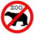 Polar bear in zoo prohibited — 图库照片