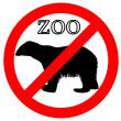 Polar bear in zoo prohibited — Stock Photo
