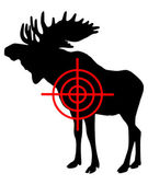 Moose crosshair — Stock Photo