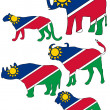 Big Five Namibia — Stock Photo