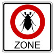 Cockchafer traffic sign — Stock Photo