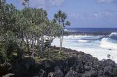 Lava beach La Reunion — Stock Photo