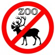 Caribou in zoo prohibited — Stock Photo #5983157