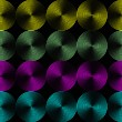 Metallic shimmering background picture out of many colored circle lines — Foto Stock #5983187