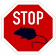 Stop sign for mice — Stock Photo