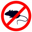 Stock Photo: Prohibition sign for mice