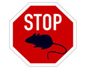 Stop sign for mice — Fotografia Stock