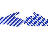 Bavarian handshake — Stock Photo