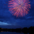 Fireworks Over Lake at Night — Stock Photo #5846441