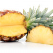 Ripe pineapple fruit with slices isolated — Stock Photo #5846498