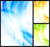 Set of bright wavy backgrounds — Stock Vector