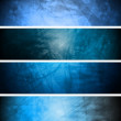 Blue textural backgrounds set — Stock Vector #5583836