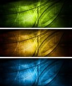 Bright textural banners collection — Stock Vector