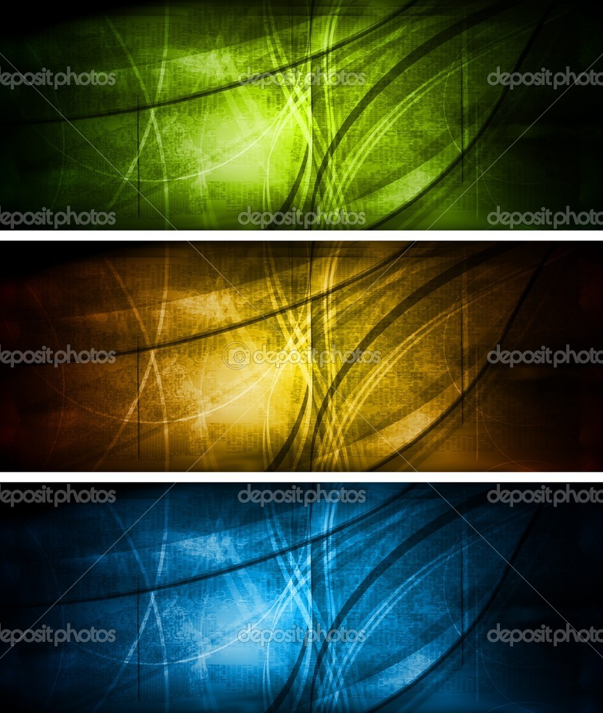 Set of grunge style banners. Eps 10 vector illustration — Stock Vector #5583570