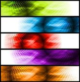 Vibrant abstract banners — Stock Vector